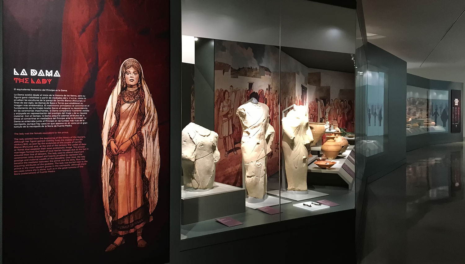 """""""The Lady, the Prince, the Hero and the Goddess"""". Museo Íbero Jaen. Spain"""